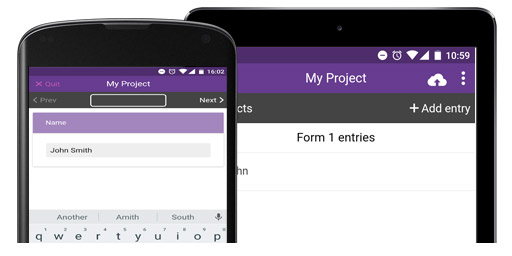 Download project on device and collect data online or offline